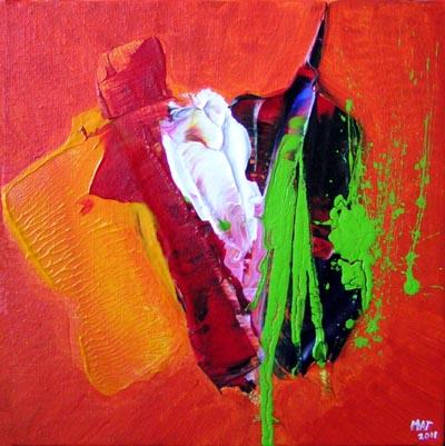 Artiste peintre contemporain tableau abstrait cadeau art for Artiste art abstrait